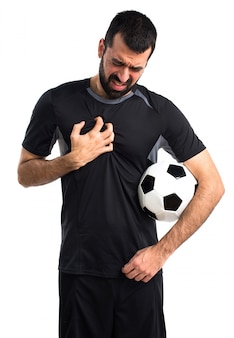 Hand chest medical adult black