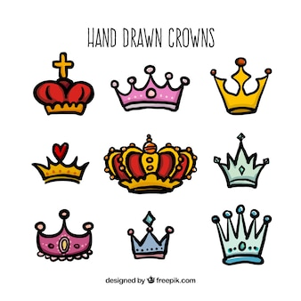 Hand drawn crowns