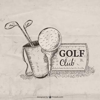 Hand drawn golf club illustration