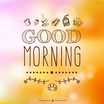 Hand drawn good morning typography