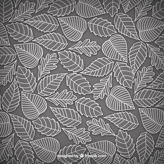 Hand drawn leaves background