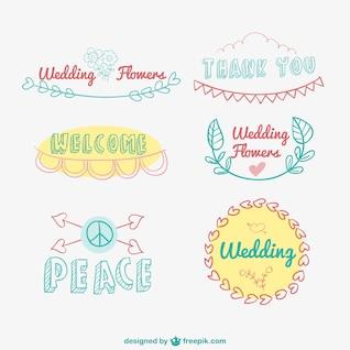 Hand drawn logos