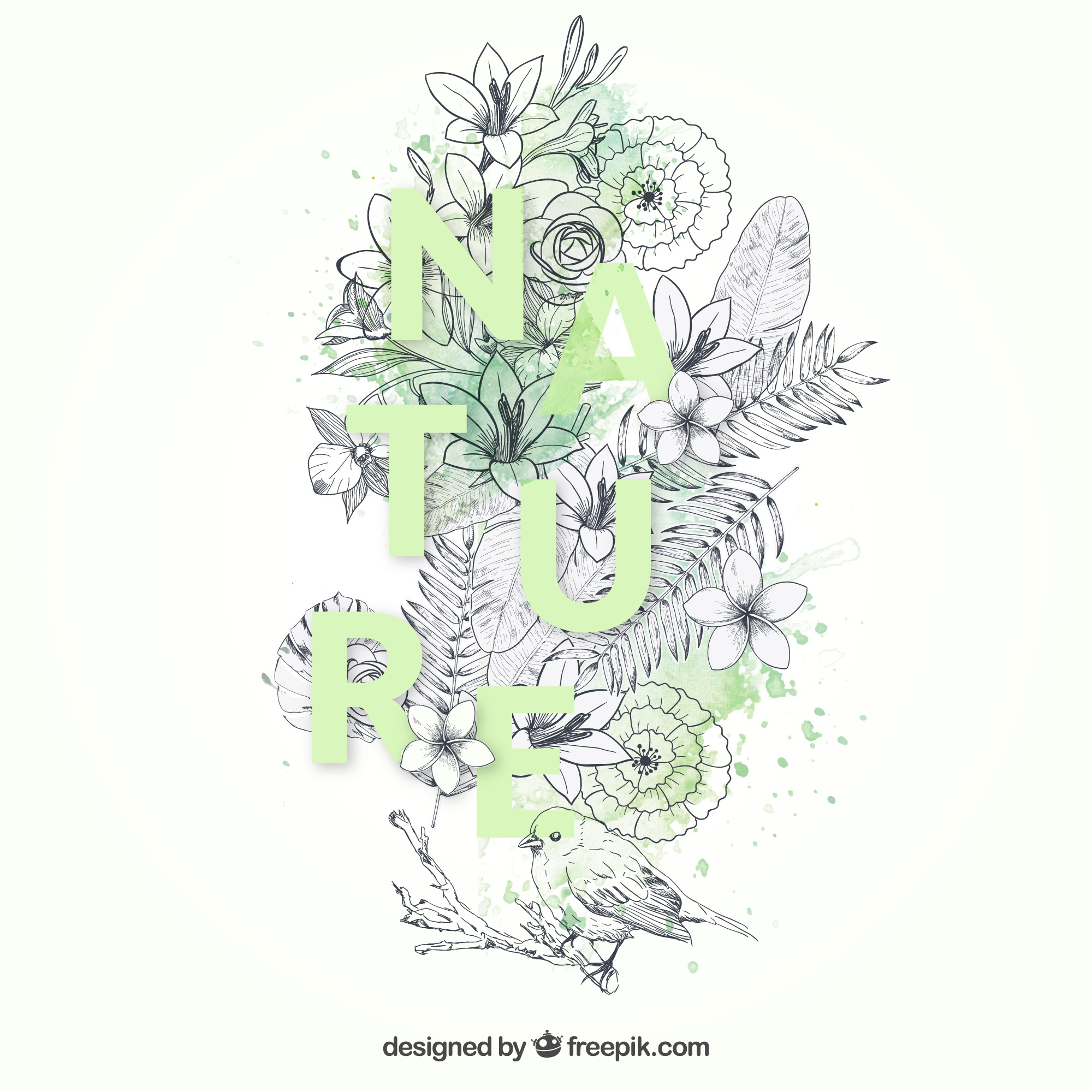 Hand drawn nature background
