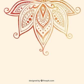 Hand drawn ornamental flower