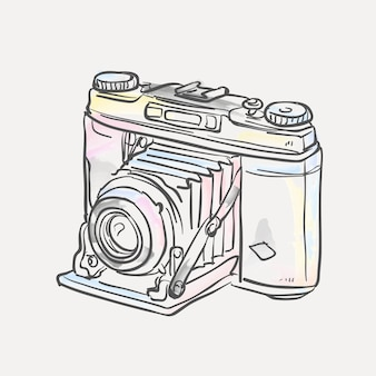 Hand drawn polaroid camera