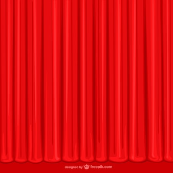 Hand drawn red curtain