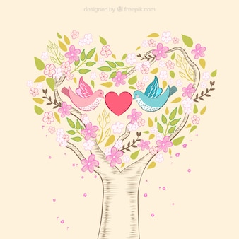 Hand drawn romantic nature