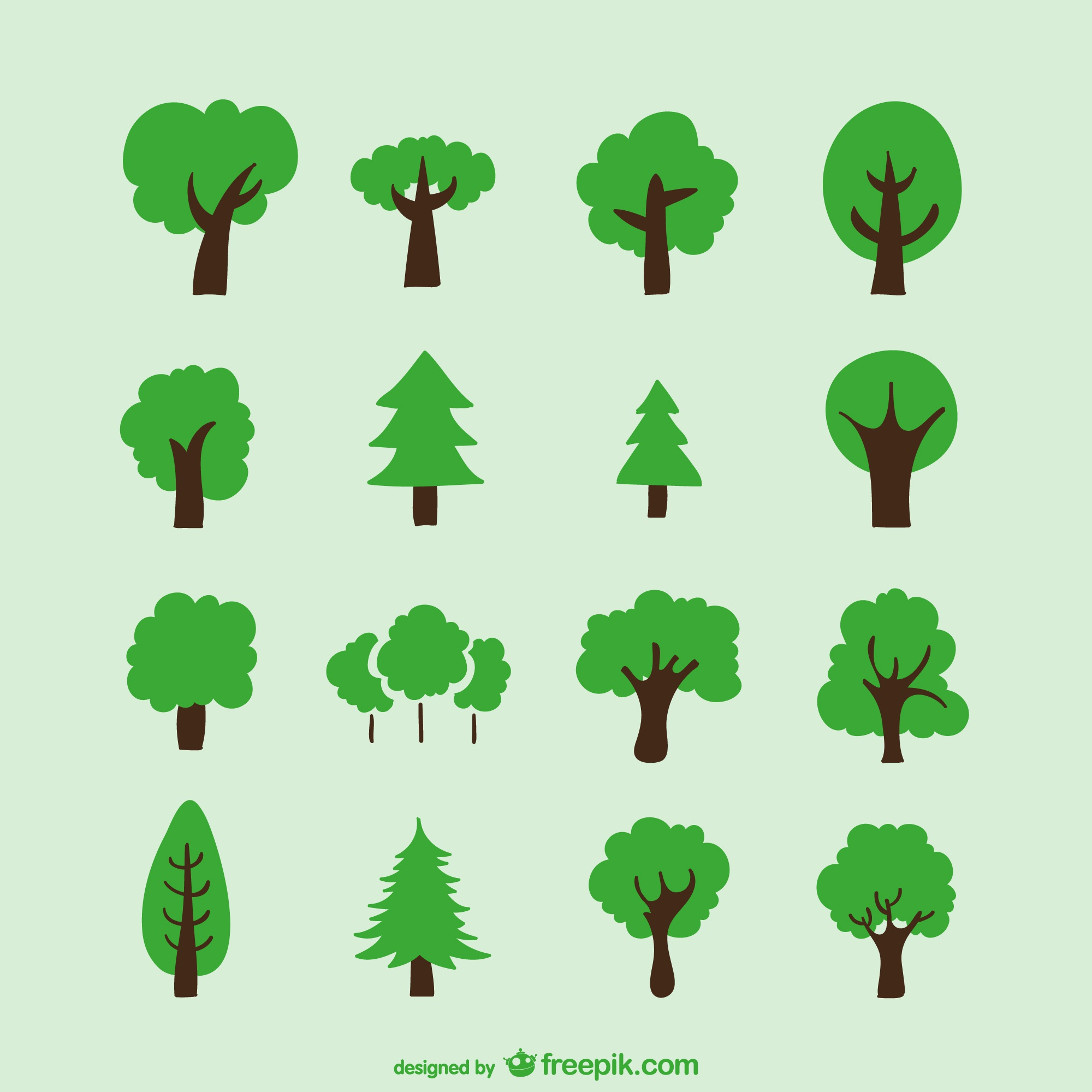 Hand drawn trees
