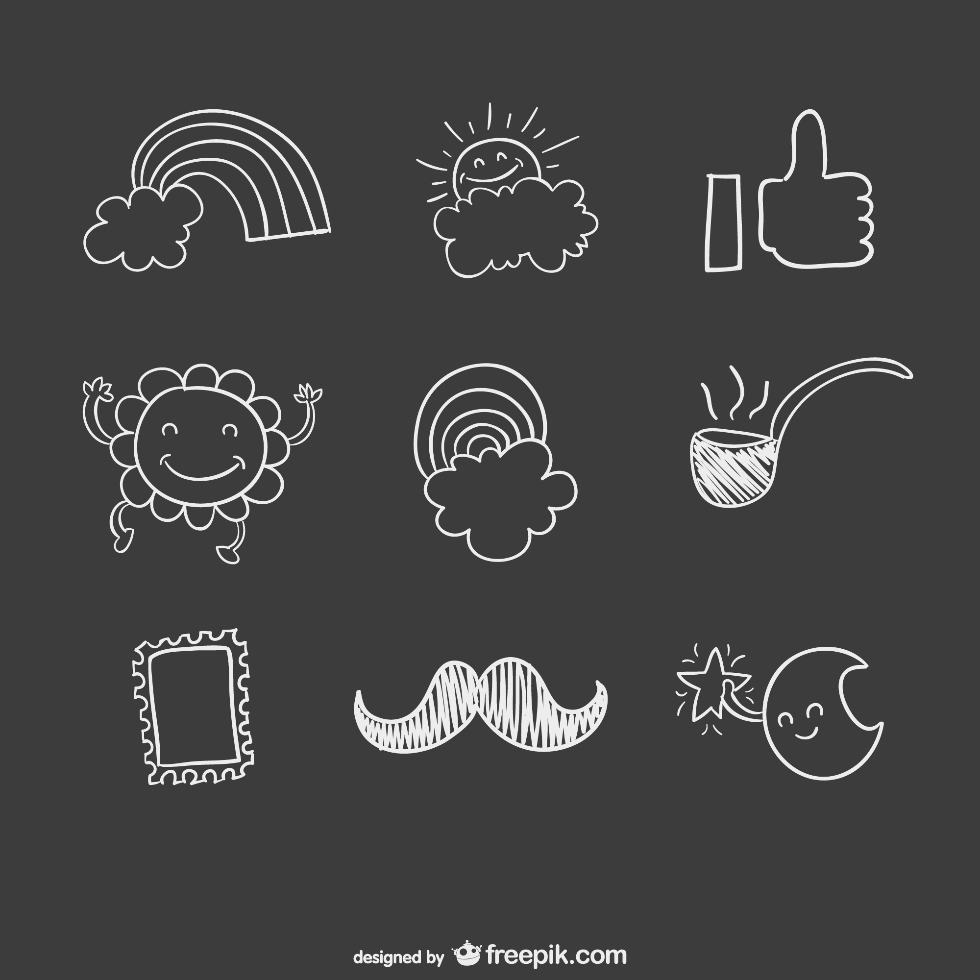 Hand drawn vector pack