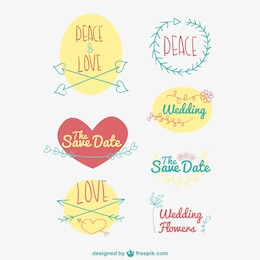 Hand drawn vectors pack