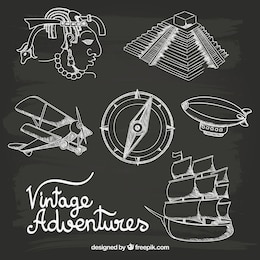 Hand drawn vintage adventures