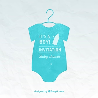 Hand painted baby shower card template