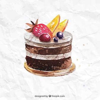Hand painted chocolate cake