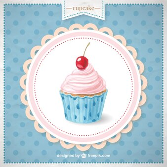 Hand painted cupcake