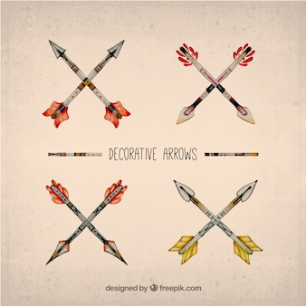 Hand painted decorative arrows