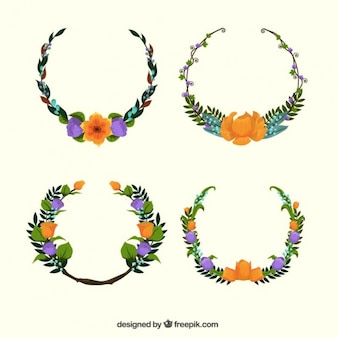 Hand painted floral wreaths
