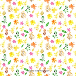 Hand painted spring pattern