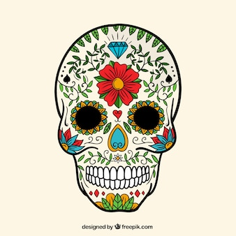 Hand painted sugar skull