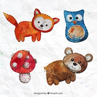 Hand painted textile animals