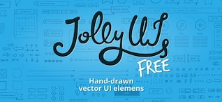 Hand painted ui elements vector icons