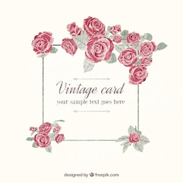 Hand painted vintage card
