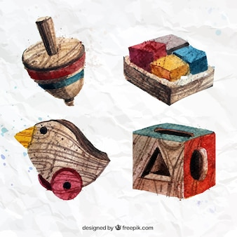 Hand painted wooden toys