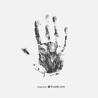 Hand print vector free background