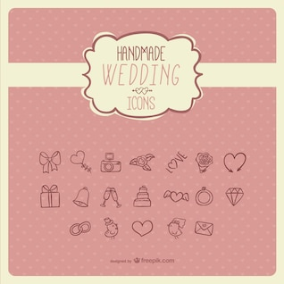 Handmade wedding icons