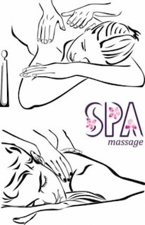 Handpainted woman massage vector