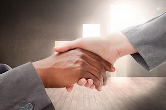 Hands giving a handshake