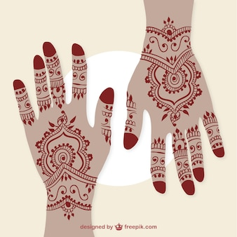 Hands with henna tattoos