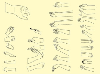 handshake fingers positions vector pack