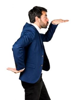 Handsome man dancing