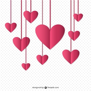 Hanging hearts vector