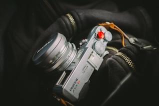 Hanging vintage camera