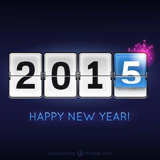 Happy 2015 modern vector