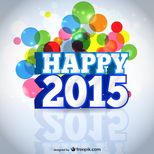 Happy 2015 vector card