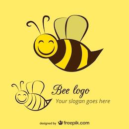 Happy bee logo template