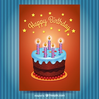 Happy Birthday card with cake