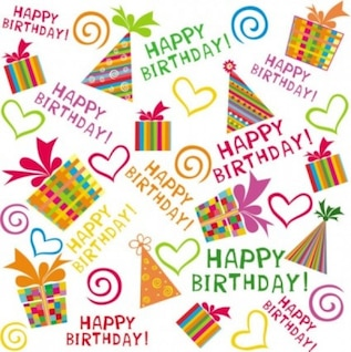 Happy birthday colorful background