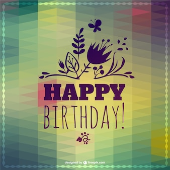 Happy Birthday lettering abstract template