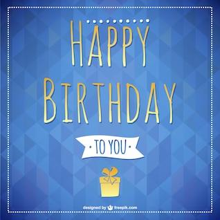 Happy Birthday lettering card