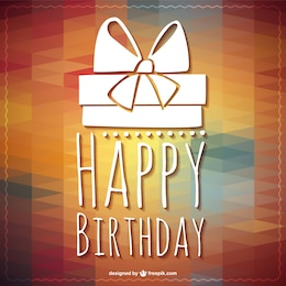 Happy Birthday lettering gift template