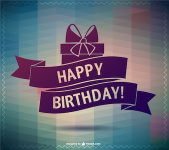 Happy Birthday lettering vector card