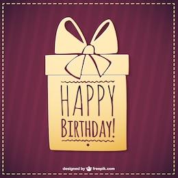Happy Birthday present vector simple graphics
