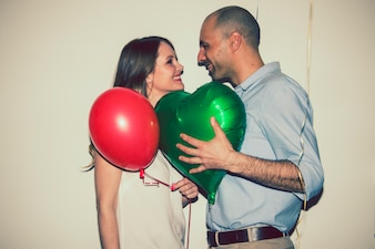 Happy couple celebrating love