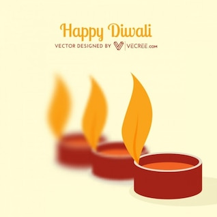 Happy diwali card with flames