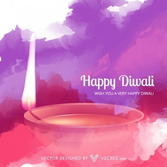 Happy diwali festival vector illustration