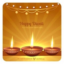 Happy diwali greeting card