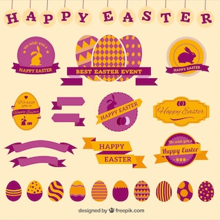 Happy easter badges